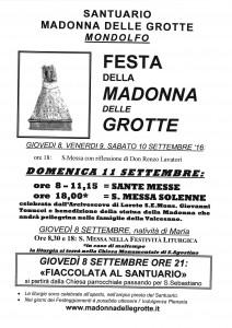 locandina Festa Madonna Grotte 2016
