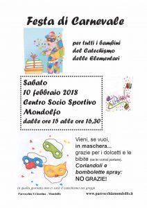 Calendario Liturgico Per Bambini.Carnevale Con I Bambini Del Catechismo A Mondolfo